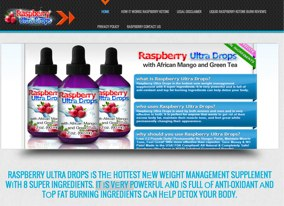 Raspberry Ketone Ultra Website