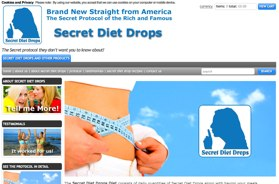official website of Secret Diet Drops