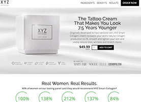 XYZ Collagen cream website