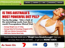 Prescopodene Australia website