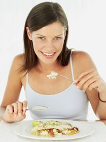 Woman eating on the Biggest Loser Diet