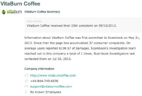 VitaBurn Scam
