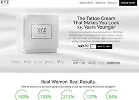 XYZ Collagen cream website