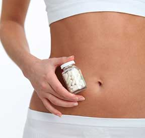 woman with new diet pills